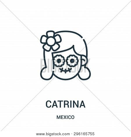 Catrina Icon Isolated On White Background From Mexico Collection. Catrina Icon Trendy And Modern Cat