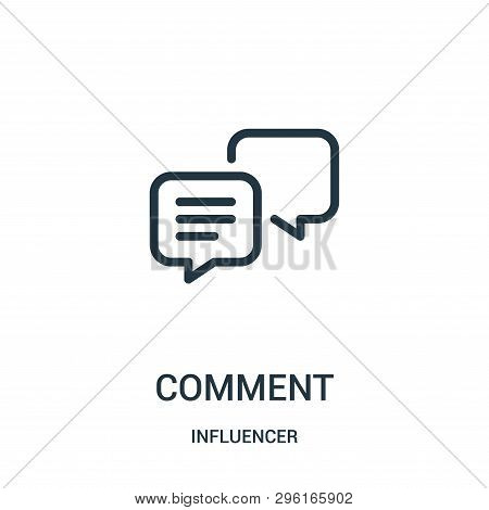 Comment Icon Isolated On White Background From Influencer Collection. Comment Icon Trendy And Modern