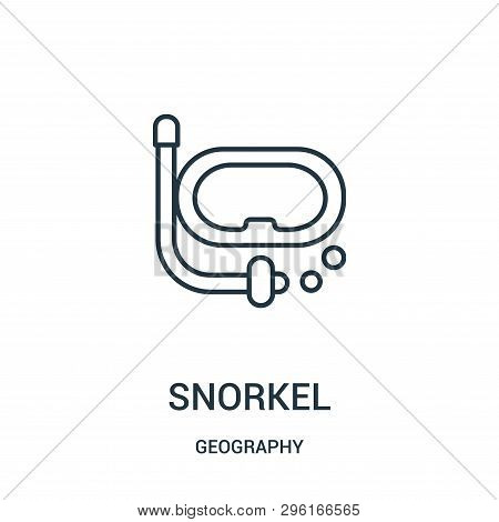Snorkel Icon Isolated On White Background From Geography Collection. Snorkel Icon Trendy And Modern