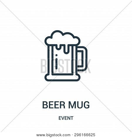 Beer Mug Icon Isolated On White Background From Event Collection. Beer Mug Icon Trendy And Modern Be