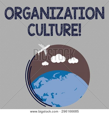 Writing Note Showing Organization Culture. Business Photo Showcasing Social And Psychological Enviro