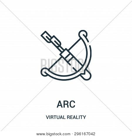 Arc Icon Isolated On White Background From Virtual Reality Collection. Arc Icon Trendy And Modern Ar