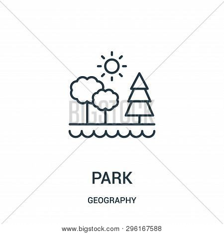 Park Icon Isolated On White Background From Geography Collection. Park Icon Trendy And Modern Park S
