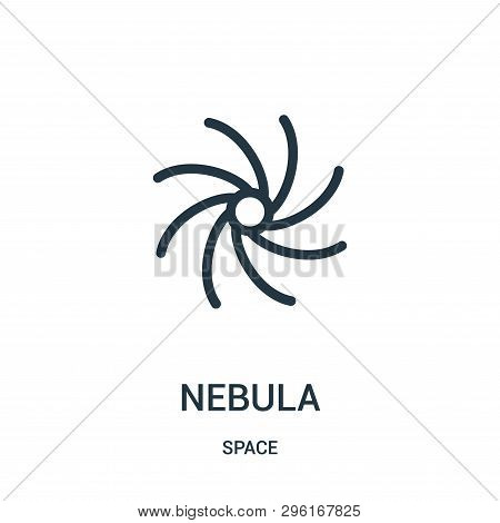 Nebula Icon Isolated On White Background From Space Collection. Nebula Icon Trendy And Modern Nebula