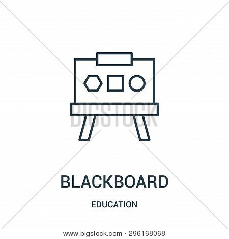 Blackboard Icon Isolated On White Background From Education Collection. Blackboard Icon Trendy And M