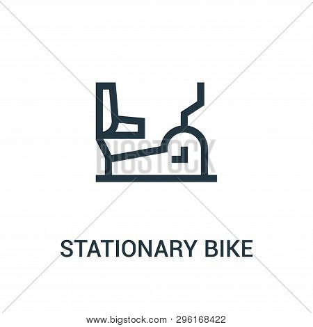 Stationary Bike Icon Isolated On White Background From Gym Collection. Stationary Bike Icon Trendy A