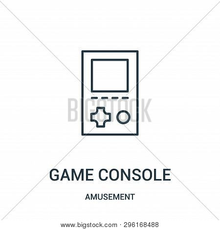 Game Console Icon Isolated On White Background From Amusement Collection. Game Console Icon Trendy A