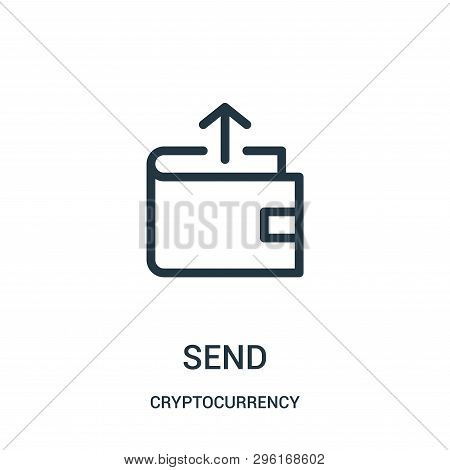Send Icon Isolated On White Background From Cryptocurrency Collection. Send Icon Trendy And Modern S