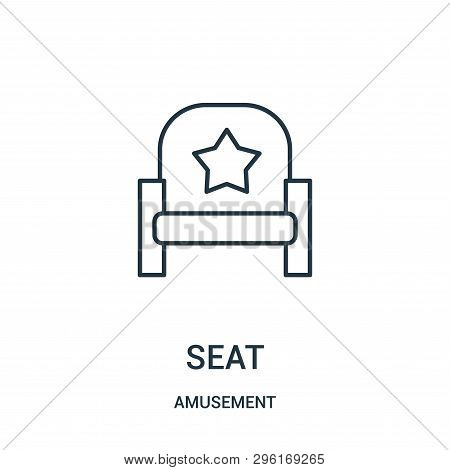 Seat Icon Isolated On White Background From Amusement Collection. Seat Icon Trendy And Modern Seat S