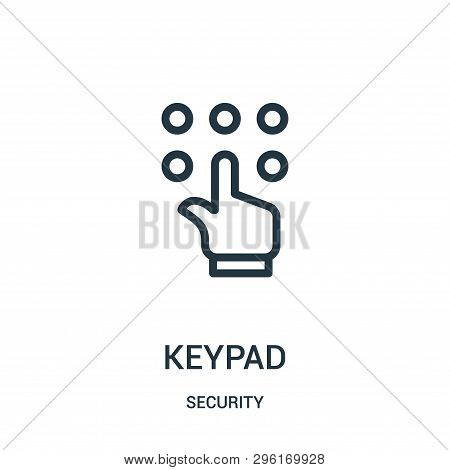 Keypad Icon Isolated On White Background From Security Collection. Keypad Icon Trendy And Modern Key