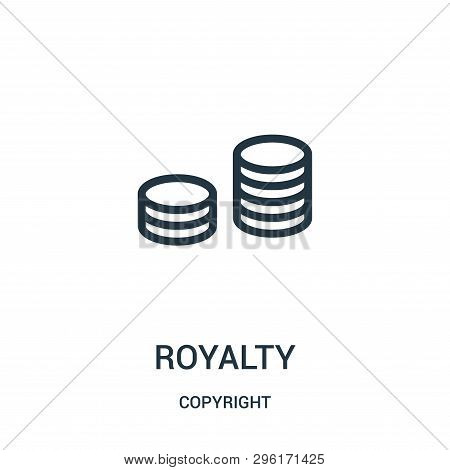 Royalty Icon Isolated On White Background From Copyright Collection. Royalty Icon Trendy And Modern