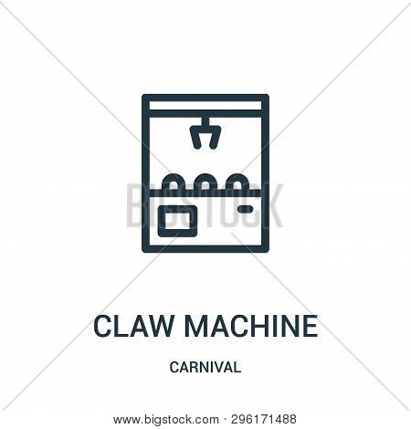 Claw Machine Icon Isolated On White Background From Carnival Collection. Claw Machine Icon Trendy An