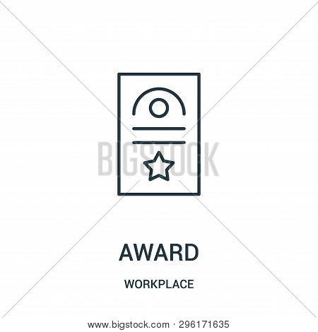 Award Icon Isolated On White Background From Workplace Collection. Award Icon Trendy And Modern Awar