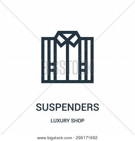 Suspenders Icon Isolated On White Background From Luxury Shop Collection. Suspenders Icon Trendy And