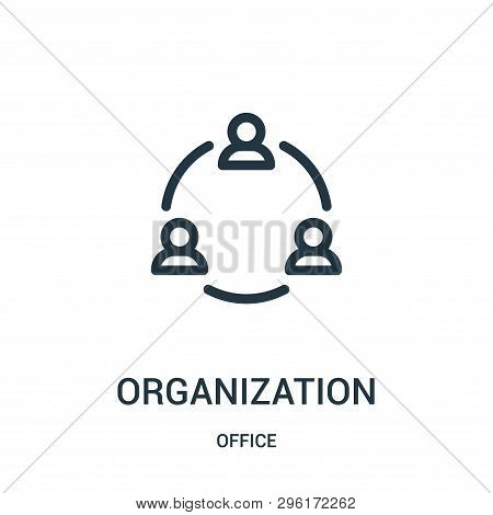 Organization Icon Isolated On White Background From Office Collection. Organization Icon Trendy And