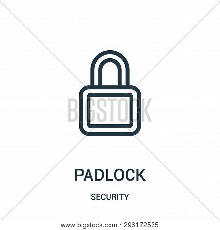 Padlock Icon Isolated On White Background From Security Collection. Padlock Icon Trendy And Modern P