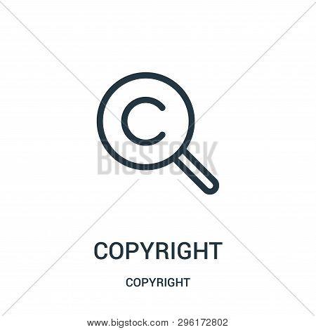 Copyright Icon Isolated On White Background From Copyright Collection. Copyright Icon Trendy And Mod
