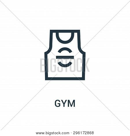 Gym Icon Isolated On White Background From Gym Collection. Gym Icon Trendy And Modern Gym Symbol For