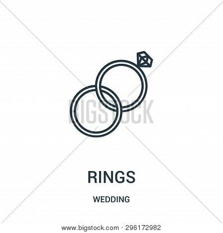 Rings Icon Isolated On White Background From Wedding Collection. Rings Icon Trendy And Modern Rings