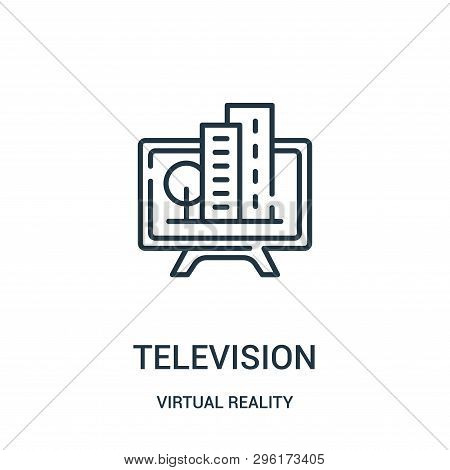 Television Icon Isolated On White Background From Virtual Reality Collection. Television Icon Trendy