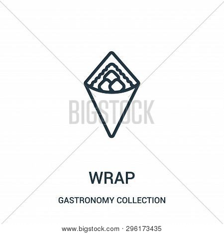 Wrap Icon Isolated On White Background From Gastronomy Collection. Wrap Icon Trendy And Modern Wrap