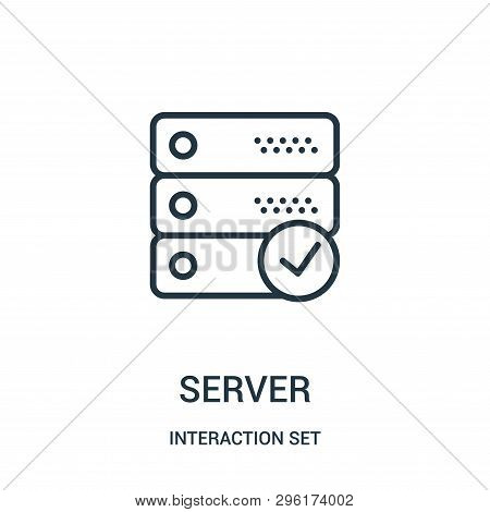 Server Icon Isolated On White Background From Interaction Set Collection. Server Icon Trendy And Mod