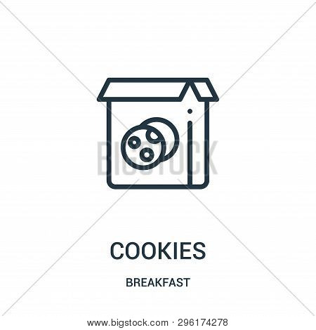Cookies Icon Isolated On White Background From Breakfast Collection. Cookies Icon Trendy And Modern