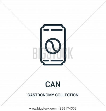 Can Icon Isolated On White Background From Gastronomy Collection. Can Icon Trendy And Modern Can Sym
