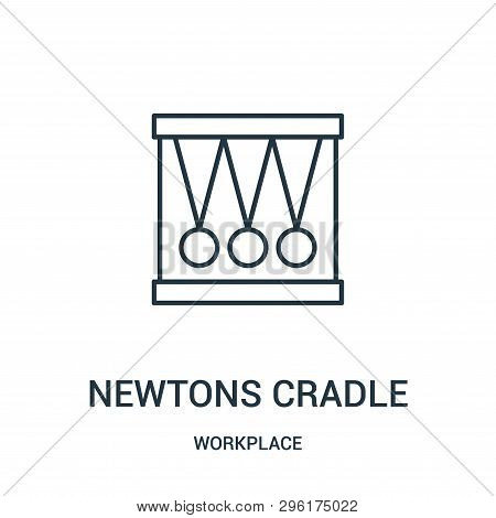 Newtons Cradle Icon Isolated On White Background From Workplace Collection. Newtons Cradle Icon Tren