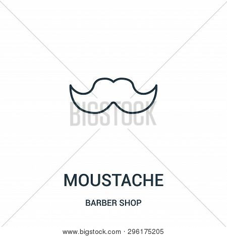 Moustache Icon Isolated On White Background From Barber Shop Collection. Moustache Icon Trendy And M