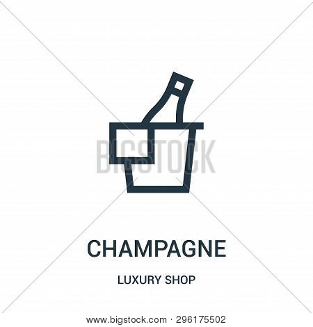 Champagne Icon Isolated On White Background From Luxury Shop Collection. Champagne Icon Trendy And M