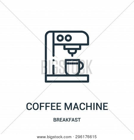 Coffee Machine Icon Isolated On White Background From Breakfast Collection. Coffee Machine Icon Tren