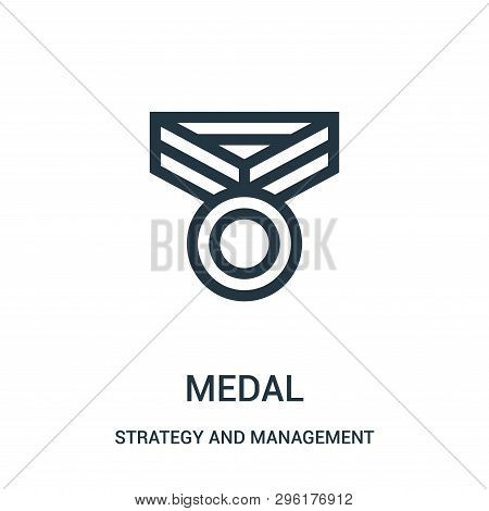 Medal Icon Isolated On White Background From Strategy And Management Collection. Medal Icon Trendy A