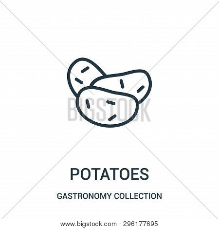 Potatoes Icon Isolated On White Background From Gastronomy Collection. Potatoes Icon Trendy And Mode