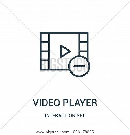 Video Player Icon Isolated On White Background From Interaction Set Collection. Video Player Icon Tr
