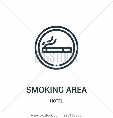 Smoking Area Icon Isolated On White Background From Hotel Collection. Smoking Area Icon Trendy And M