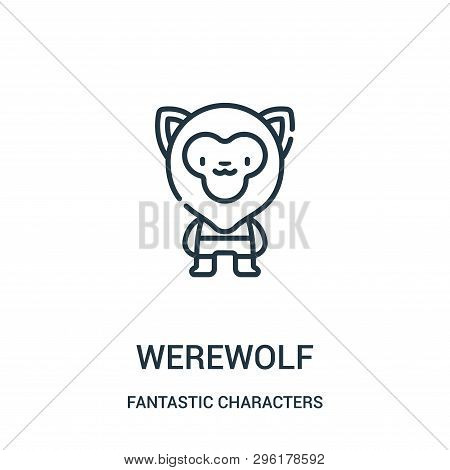 f7de50179 werewolf icon isolated on white background from fantastic characters  collection. werewolf icon trendy and modern werewolf symbol for logo, web,  app, ...