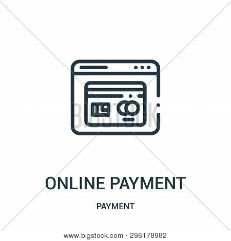 Online Payment Icon Isolated On White Background From Payment Collection. Online Payment Icon Trendy