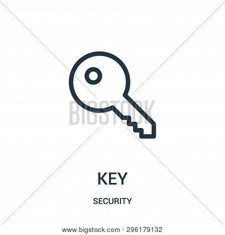 Key Icon Isolated On White Background From Security Collection. Key Icon Trendy And Modern Key Symbo