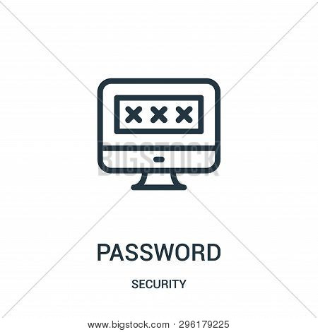 Password Icon Isolated On White Background From Security Collection. Password Icon Trendy And Modern