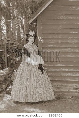 Sepia Toned Civil War Woman