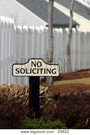 No Soliciting Please