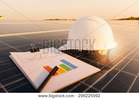 Solar Panel, Alternative Electricity Source, Concept Of Sustainable Resources, Chart Section Power C