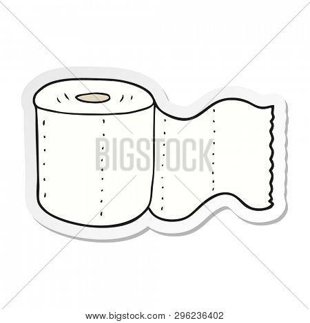 sticker of a cartoon toilet paper