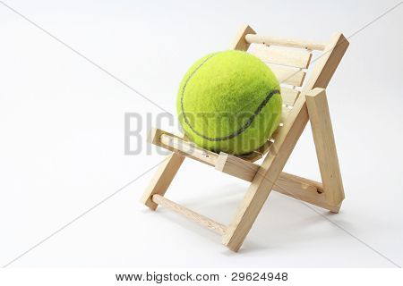 Tennis and chair