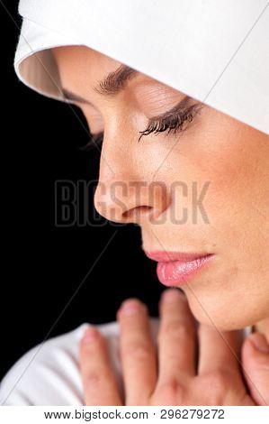 Muslim woman portrait