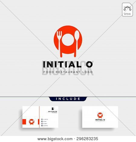 Initial O Food Equipment Simple Logo Template Vector Icon Abstract