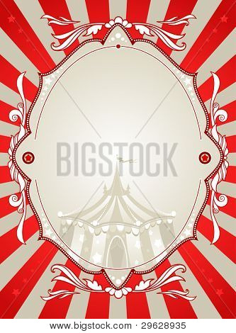 Vintage circus background  with space for text poster