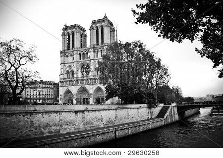 Notre Dame with Seine River