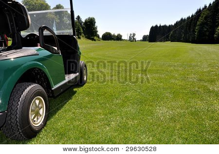 golf cart on a fairway